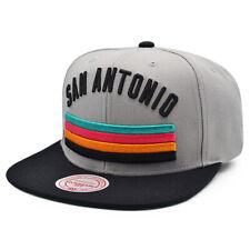 San Antonio Spurs HWC HERITAGE Snapback Mitchell & Ness NBA Hat - Gray/Black