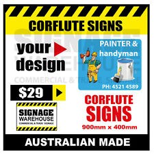 Custom Corflute Sign - Corflute 900mm x 400mm - by Signage Warehouse