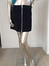 ladies black 100% genuine suede skirt size 10 BRAND NEW very good quality