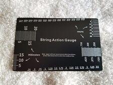 String Gauge Action Ruler Guide Setup Measuring Luthier for Electric Guitar/Bass