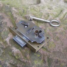 altes Schrankschloss Dornmaß 25mm Einlegeschloss Möbelschloss Türschloss 70x44mm
