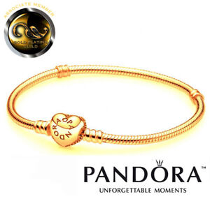 """New 24ct Gold-Plated Pandora """"Moments"""" Bracelet In Original Box. Code 590719"""