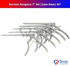 "Kerrison Rongeurs 7"" Set Of 5 (1mm-5mm) 45° Up Bite Neuro, Surgical Instruments"