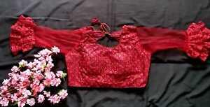 Indian Ready Made Stitched Sari Blouse Wedding Party Wear Saree Choli
