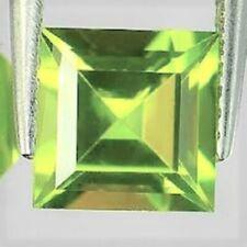 PERIDOT GEM SQUARE CUT LIME GREEN PAKISTAN GENUINE GEMSTONE NATURAL PRINCESS 3mm