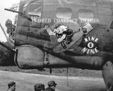 USAAF WW2 B-17 Bomber Nine-O-Nine Vintage #5 8x10 Nose Art Photo 91st BG