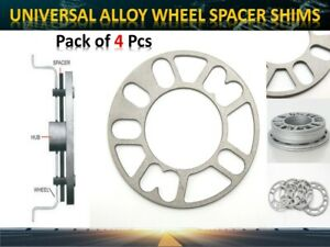 5mm Universal Car Alloy Wheel Spacers Shims 4 and 5 Studs Fit 98mm - 120mm