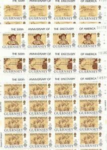 s37765 GUERNSEY EUROPA CEPT MNH** 1992 MSx4