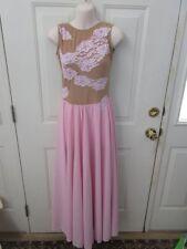 Custom Pink Nude Long Lyrical Contemporary Dress Adult Medium AM Dance Costume