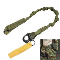Outdoor Tactical Quick Release Safety Lanyard Rope Bungee Rifle Gun Sling OliveD