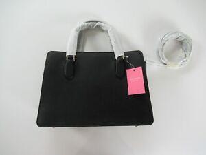 Kate Spade Laurel Way Reese Black Leather Satchel Purse NWT NEW $399
