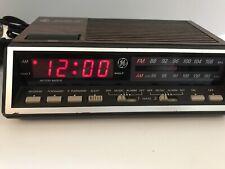 GE FM/AM Alarm Clock Radio w/ Two Wake Times (Model No. 7-4616A) Vintage Works!!