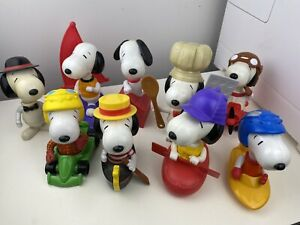 McDonalds Connect A Snoopy Large Figures Vintage Old Peanuts 2000 2004