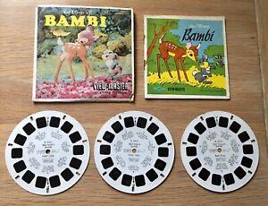 Vintage View Master Reels Walt Disney Bambi B 400 Sawyer