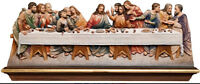 Ultima Cena Estatua en Madera De Pared- The Last Supper Wood Relief