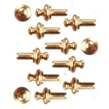 Brass Drawer Knobs Pack of 12, Dolls House Fittings & Accessory DIY