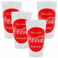 Delicious Coca Cola 16 oz Plastic Reusable Cups (Set of 4)