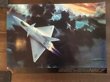 Glossy IN COLOR NATF Aircraft poster- circa 1990s