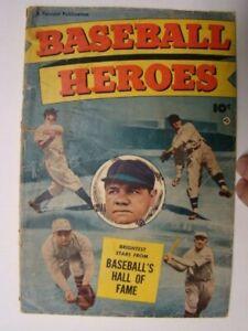 1952 Baseball Heroes nn Fawcett Comic Book Babe Ruth Photograph Cover Scarce! GD