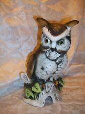 Flambro Fine Porcelain Owl Sculpture
