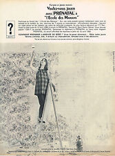 PUBLICITE ADVERTISING 015  1965  PRENATAL   vetements de grossesse