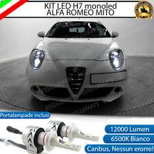 KIT LED H7 ALFA ROMEO MITO 6500K CANBUS 12000 LUMEN MONO LED MONOLED LENTICOLARE