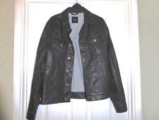 Asos Mens Black Coated Denim Jacket BNWOT - Medium