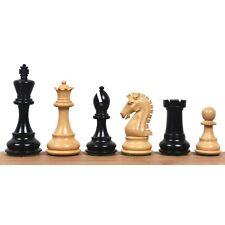 "3.9"" Craftsman Staunton Chess Pieces Only set-Triple weight Ebonised Boxwood"