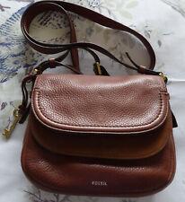 Ladies Fossil tan leather shoulder bag
