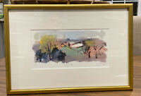 """Mary Page Evan's Watercolor """" Shenandoah Mountains"""" Personalized LTD ED 18/20"""