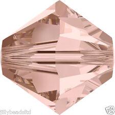 SWAROVSKI 5328 XILION Bicone Beads 4mm: VINTAGE ROSE (50 Perline)
