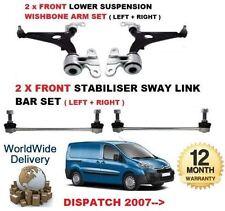 pour Citroen envoi 2007->2x fourchette avant bras + 2x Barre Anti-Roulis