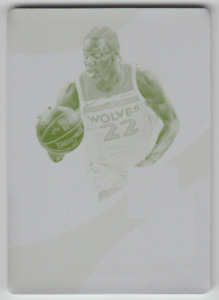 2017-18 Panini Immaculate Timberwolves Andrew Wiggins Materials Yellow Plate 1/1