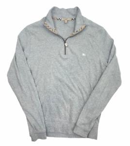 Burberry Quarter Zip Up Sweatshirt   Small