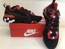 Nike React Element 55 Script Swoosh Black Red Schwarz 44 Neu CK9285-001