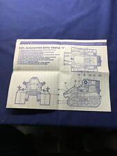 GI Joe 1986 Sgt. Slaughter's Triple T Tank Blueprints