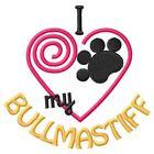 "I ""Heart"" My Bullmastiff Long-Sleeved T-Shirt 1432-2 Size S - XXL"
