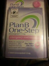 NEW Plan-B One Step Emergency Contraceptive 1.5mg Levonorgestrel Tab.