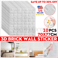Simple 3D Foam Stone Brick Self-adhesive Wallpaper Home Wall Sticker Panels