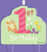 1st Birthday Girl Party Supplies - 1st Birthday Cake Candle - Party Decorations
