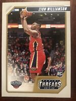 Zion Williamson 2019-20 Panini Chronicles Threads New Orleans Pelicans RC