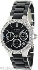 DKNY Ceramic Glitz Chronograph Black Dial Women's Watch NY4983