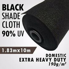 90% UV Black 1.83m x 10m Heavy Duty Shade Cloth Shadecloth Black