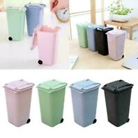 Trash Can Recycling Mini Trash Bin Storage Bin-form Holder Pen Vite Desktop P9X1