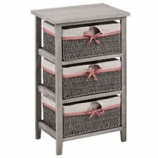 Contemporary Wooden Height 3 Chests of Drawers