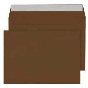 High Quality D Brown C5 / A5  Plain Envelopes Peel & Seal 80gsm Home Office use