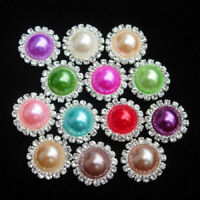 Crystal Faux Pearl Flatbacks Scrapbooking for Card Phone Dress Embellishment DIY