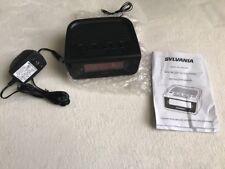 """Sylvania Dual Alarm Clock Radio 1.8"""" Jumbo Digits SCR1388B"""