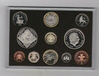 BOXED 2008 ROYAL MINT 11 COIN EXECUTIVE PROOF SET WITH CERTIFICATE.