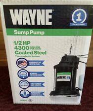 New In Box Wayne Sump Pump 1/2 Hp - 4300 Gallons/Hour - Coated Steel